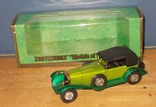 Matchbox Yesteryear Y16 Mercedes Benz SS Coupe Two Tone (Stutz) Green
