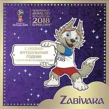 2018 FIFA World Cup Russia HAPPY NEW FOOTBALL YEAR! Mascot ZABIVAKA Booklet 2017