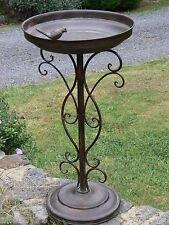 French antique style BIRD FEEDER BIRD bath  BROWN  garden cottage  NEW