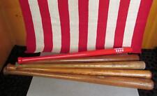 Vintage Group of 5 Wood Baseball Bats Frank Robinson Reds Savage Slugger + Nice!