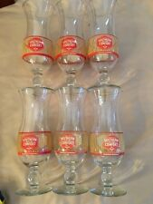 **VINTAGE**SET OF 6 SOUTHERN COMFORT GLASSES--HURRICANE FOOTED--DAQUIRI
