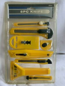 8 piece  UTILITY KNIFE SET  *  Knives For a Variety of Cutting Projects  *  NEW