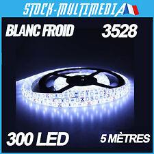 Kit ruban led 5 mètres smd3528 blanc froid 12v 300 led non-étanche bandeau led