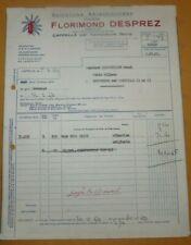 Ancienne facture Semences sélectionnées F. Desprez à Cappelle par Templeuve 1960