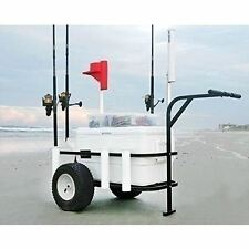 Fishing Beach Cart Wagon Outdoor Camping Sports Surf Pier Cooler Rod Gear Holder