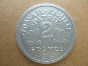 Coin 2 Francs 1943 Travail.famille.patrie Condition French - Franconian Ttb