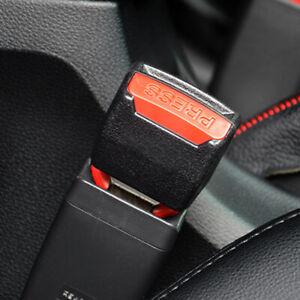 2x Car Auto Safety Seat Belt Buckle Extension Extender Clip Alarm Stopper Black