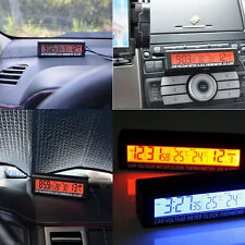 IN/OUT DIGITAL LCD AUTO CAR TEMPERATURE THERMOMETER&CLOCK VOLTAGE METER MONITOR