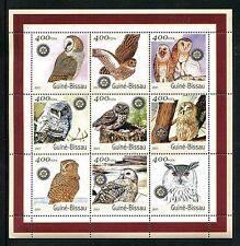Guinea Bissau, MNH, Birds Western Barn Owl  Brown Wood Owl 2001. x20166