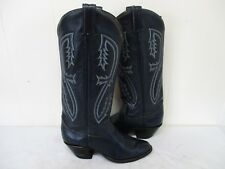 Tony Lama Blue Leather Tall Cowboy Boots Womens Size 6 B Style K0556 USA