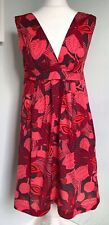 EMILY AND FIN Chloe Pink Floral Tropical Dress Sz M 10 12 NWT Pockets A-Line
