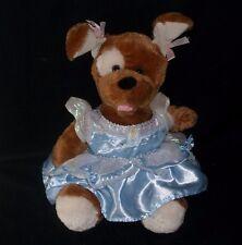 BUILD A BEAR BROWN PUPPY DOG DISNEY CINDERELLA DRESS STUFFED ANIMAL PLUSH TOY