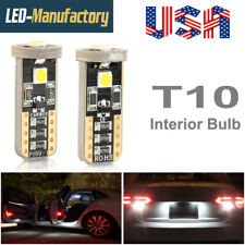 Canbus 6000K White T10 3 LED SMD W5W License Plate Lights Bulbs 192 194 168 2825
