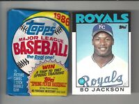 1986 Topps Traded Bo Jackson #50T and One Unopened 1986 Topps Wax Pack!