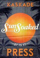 """Kaskade """"Sun Soaked"""" 07/15/2017 Long Beach Ca Concert Press Pass Sticker Badge"""