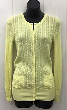 GAP Cardigan Sweater Womens Small Button Front Top Thin Cotton/Wool Blend Yellow