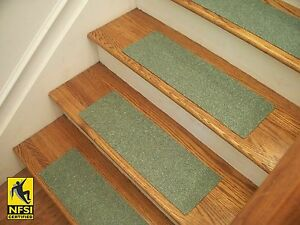 "NFSI High Traction - Vinyl Stair Tread Sets - Dark Green (503) -  24"" x 8"""