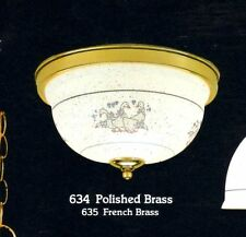 COUNTRY FLUSH MOUNT White DUCK Design CEILING Fixture NEW $199 MSRP Item B635