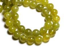 10pc - Perles de Pierre - Jade olive naturelle Boules 10mm  - 4558550018427