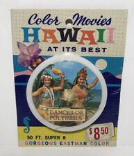 Color Safari Movies Hawaii Dances Of Polynesia 50ft Super 8mm #123 NOS Sealed