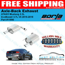 Borla ATAK Axle Back Exhaust 15-16-17-18-19 Mustang 2.3L EcoBoost/3.7L V6 11890