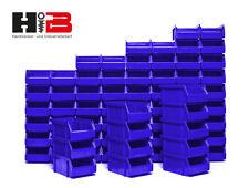 72 blaue Lagerboxen Lagersichtbehälter Stapelboxen in Größe 2 MADE in GERMANY !!