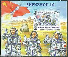 Burundi 2013 Shenzhou 10 Nie Haisheng Wang Yaping & Zhang Xiaoguang S/S Nh