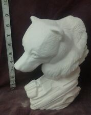 """Driftwood bear 9 1/2""""  ready to paint, ceramic bisque"""