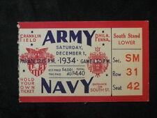 Vintage 1934 Army vs Navy Ticket Stub Franklin Field