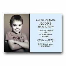 10 Personalised Birthday Photo Invitations 30th 40th 50th 60th 70th Any Age E253