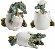 Mighty Dragon Hatchlings Mystical Sculpture Medieval Set of Three