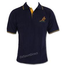 Wallabies Gold Trim Polo Shirt Navy Size S BNWT