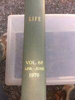 Vintage Life 1970 Library Bound Magazine Book Vol 68 April - June