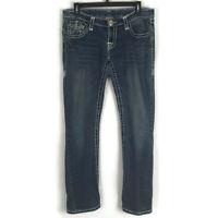 True Religion Womens Jeans Size 31 Medium Wash Flap Pockets Low Rise Denim
