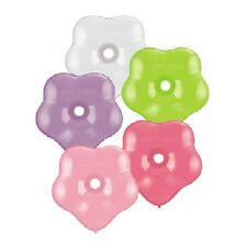 "GEO BLOSSOM Flower Shape 5 16"" Pastel Shades Latex Party Balloons Luau Tropical"