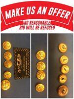 Hart Schaffner Marx Suit Replacement 5 Gold Buttons Sport Coat Blazer Jacket GG