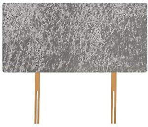 Silver Crushed Velvet Headboard - Available 3FT SINGLE  4FT 4FT6 DOUBLE 5FT KING