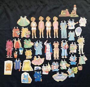 Original Child Star SHIRLEY TEMPLE Paper Dolls, Cut, Whitman Set, 1934