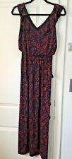 Ann Taylor Loft Sleeveless Maxi Dress Blouson Bodice Size XSPetite Black Red