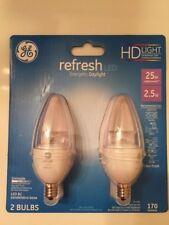 New GE LED Bulbs - HD refresh energetic daylight  - 2 25 watt that use 2.5 watts
