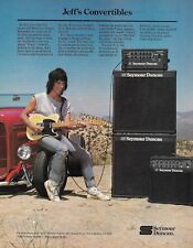 Jeff Beck with Fender Telecaster 1985 Seymour Duncan guitar amp 8 x 11 ad print