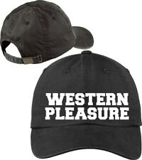 Western Pleasure Baseball Cap Horse Lovers Hat with Soft Feel Lettering.