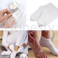 White Moisturising Socks Gloves Moisture Cream Care Hand Feet Smooth Soft Skin