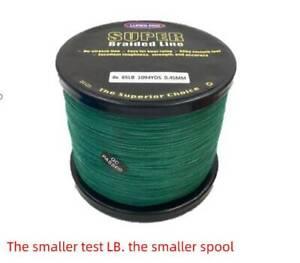 1100 Yard Green Fishing braided Fishing Line 10 12 15 20 lb  30 lb 40 50 65
