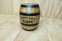 """Vintage J Chein Co Tin 4"""" Barrel Coin Bank"""