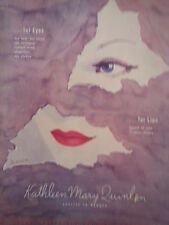 1945 Kathleen Mary Quinlan Cosmetic Eyes Lips Karin Art Color Original Ad