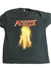 Rare ACCEPT RESTLESS & WILD Heavy Metal Band Graphic Shirt 80's ROCK TOUR 1982