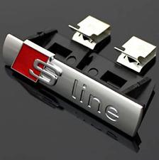 Audi S-Line Chrome Bonnet Front Hood Grill Badge Sticker Emblem A3 A4 A5 A6 A7