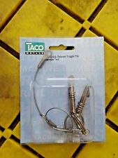 "Taco F13-0107T-1 Spring Loaded Clevis Pin - Bimini Pull Toggle 1/4"" Marine 2Pk"
