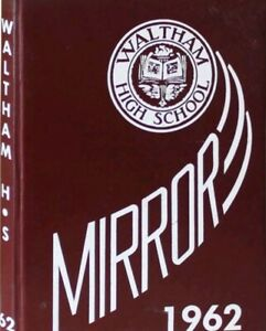 """Waltham High School Yearbook, """"Mirror"""" 1962, Waltham MA, VG+ Cond. No Writing"""
